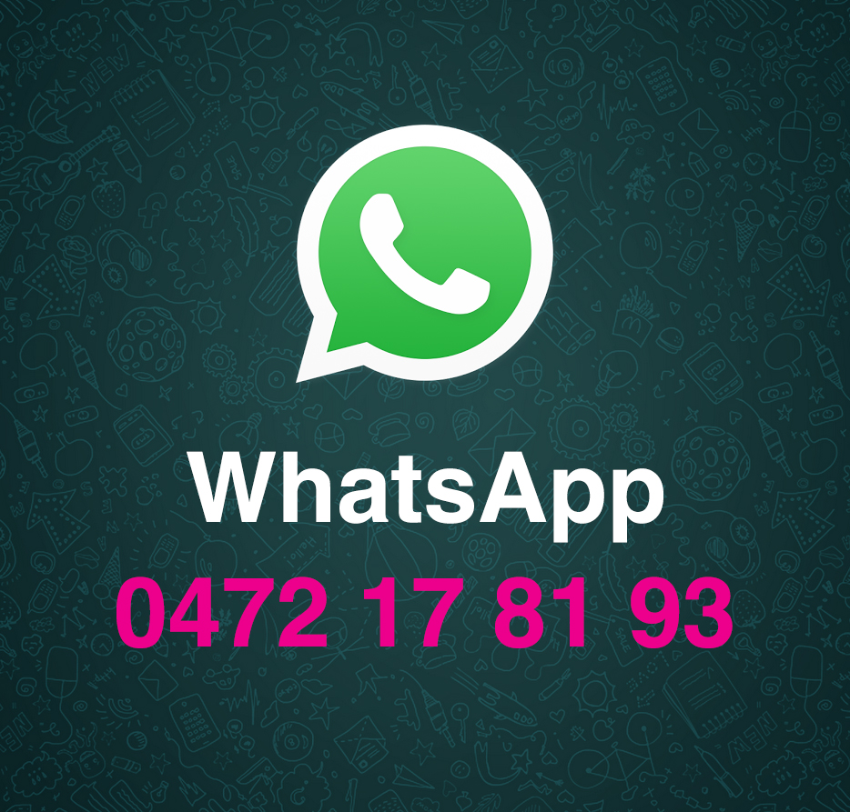 Contacteer ons via WhatsApp
